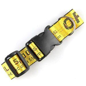 Black and Yellow Caution Tape Dog Collar